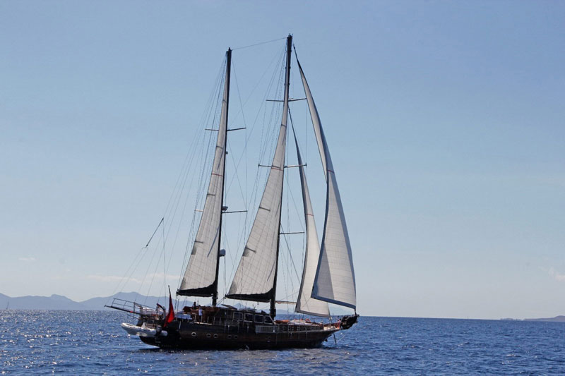 luxury wooden yacht Bodrum