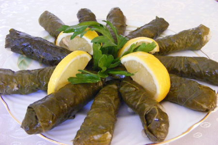 yaprak sarmasi, a sample of turkish cuisine